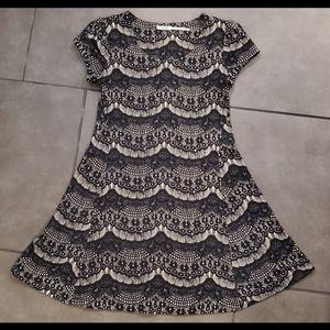 Kimchi Blue Black and Cream Design Dress